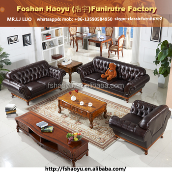 supply wooden frame violino leather sofa chesterfield sofa with
