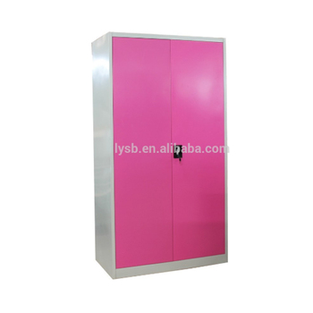 Metal Wardrobe Clothing Storage Cabinet 2 Door Customized India Style Bedroom Armoire