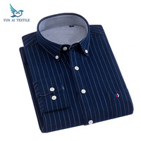 wholesale good quality stripe 100 cotton slim fit long sleeve mens casual shirts