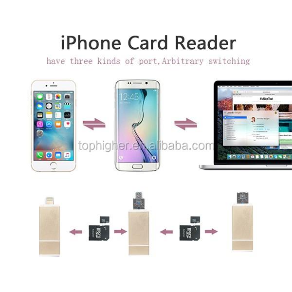Otg Usb Magnetic Card Reader Sd/tf Card Otg Reader For Iphone ...
