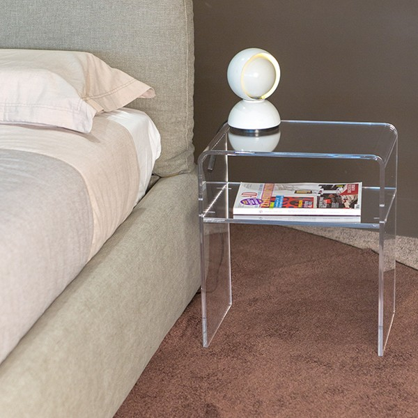 custom acrylic side table clear acrylic bedside table buy custom acrylic side table clear. Black Bedroom Furniture Sets. Home Design Ideas