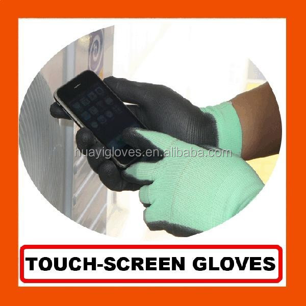 Smart Phone Touch Screen PU Coated Gloves