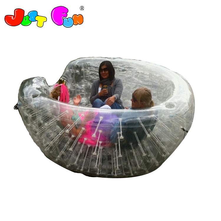 Outdoor Transparent Inflatable Coconut Balls Half Zorb ball For Water Games