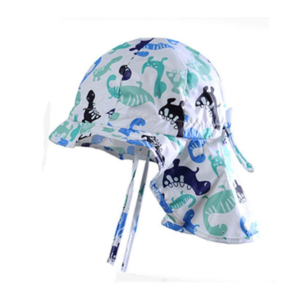 fba82d6e394b3 Get Quotations · Baby Sun Hat with Chin Strap and Neck Protection