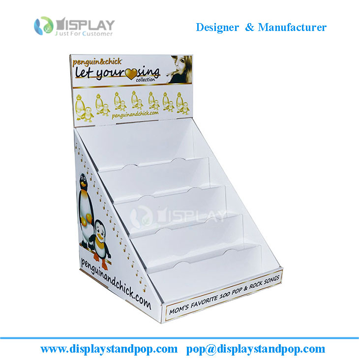 Bespoke CD DVD Cardboard Counter Display Stand / Unit / Rack