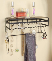 Wall Mount Jewelry & Accessory Storage Rack Organizer Metal Jewelry Display Holder