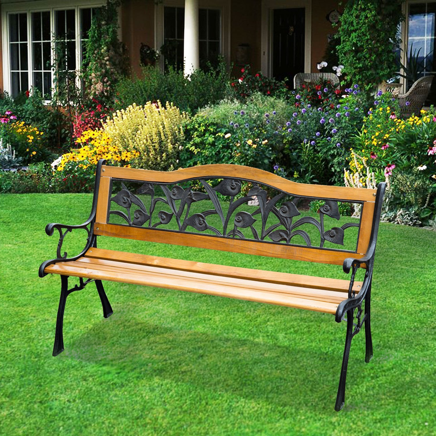 benches storage pads wrought outdoor full garden size lawn plans ebay cedar wood photo corneroor seat seats regency bench iron wooden design and patio amazing