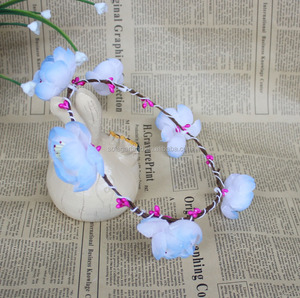 New Design White Floral Crown Decorative Artificial Flower Garland Wedding Women Hair Accessory