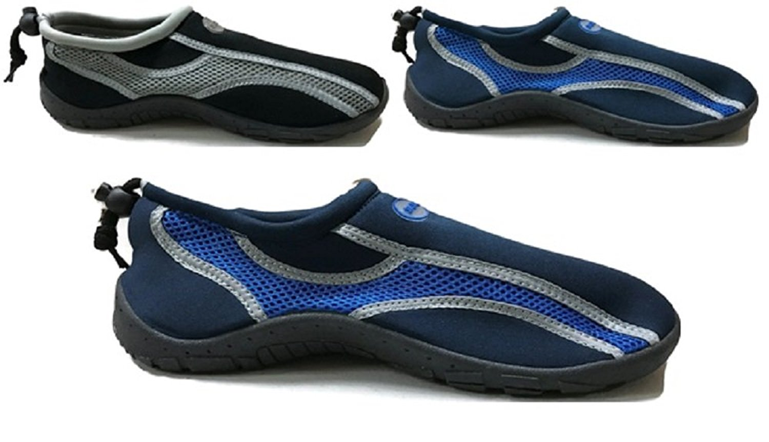97268d4e3372be Mens Waterproof Water Shoes Aqua Socks Beach Pool Yoga Exercise Boating  Surf Mesh Adjustable Toggle