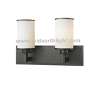 UL CUL Listed Matte Opal Glass In 2 Light Black Hotel Wall Mounted Vanity Fixtures Bathroom Light W50280
