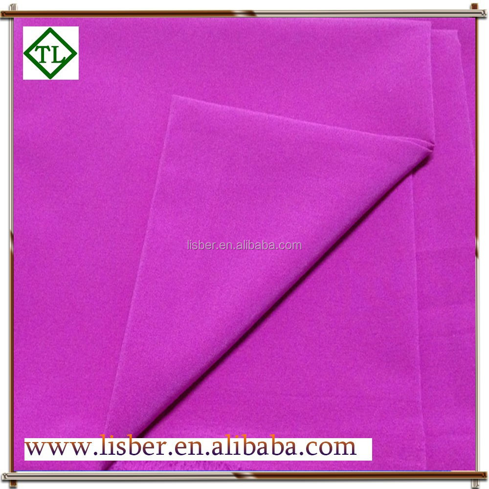 polyester material pu leather pongee for fashion cloths
