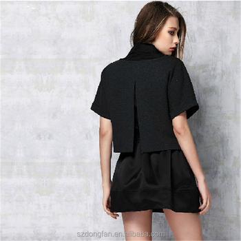 Sampel Desain Baju Lengan Pendek Untuk Jamuan Formal Blus Dan Rok