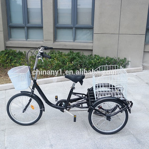 High quality adult tricycle trike/shopping tricycle cargo bike bicycle for sale/cargo tricycle for adults Clamber model C-GW7005