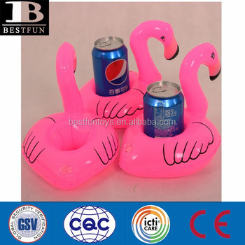 Flamingo Inflatable Drink Can Holder