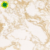 Luxury raw material polishing golden veins white artificial marble for countertop