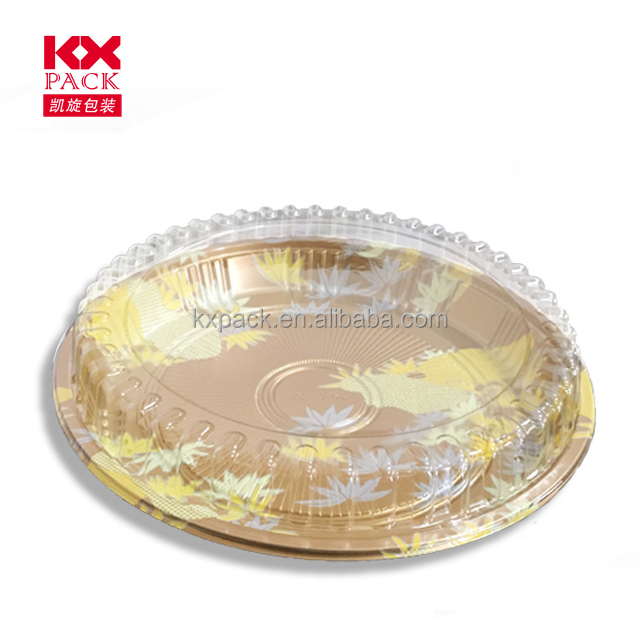 Round shape ps tray pet lid sushi containers