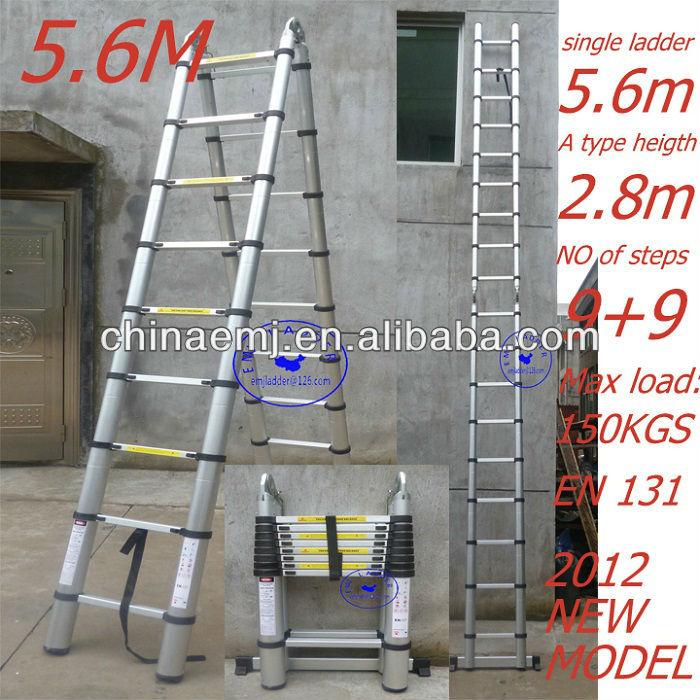 5 6 m magia telesc pica escalera de aluminio con en131 for Escalera de aluminio extensible 9 metros
