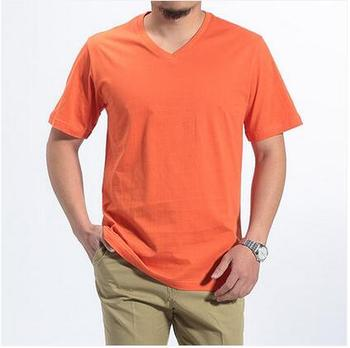 Tse144 Hot Sale Bamboo T Shirt Short Sleeve V Neck T Shirt