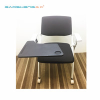 Ergonomic Plastic Folding School Student Chair Computer Desk Chair With Writing Board