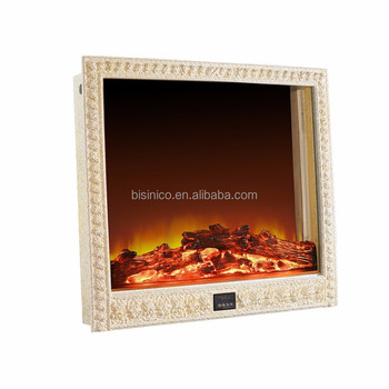 french style electric fireplace wall mounted screen heater elegant floral boarder space heater for living - Wall Mount Heater