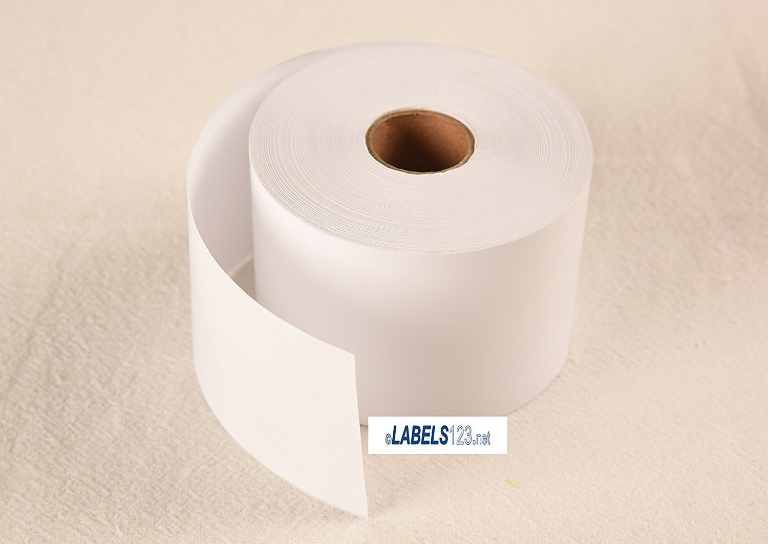 2 Dymo Compatible Rolls Non-adhesive Continuous Receipt Paper Price Tag Rolls White 450 Twin Turbo 30270