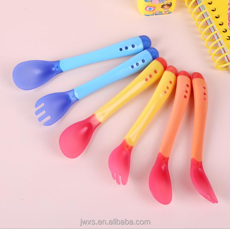 Tableware Thermal Sensing Fork Heat Sensing Spoon Feeding Spoon And Fork