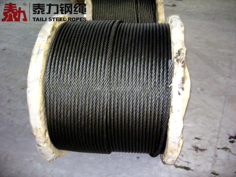 3/8''  ungalvanized steel wire rope 6x19S+IWRC with asphalt to PERU