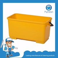 6 gallon window cleaning rectangle plastic bucket with lid