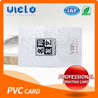 Professional manufacturer gift business cr80 pvc card best quality
