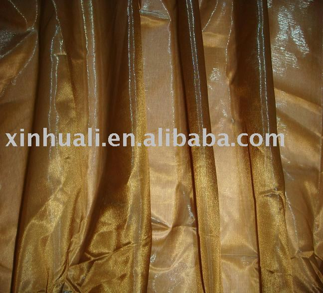 new shiny organza fabric for curtain