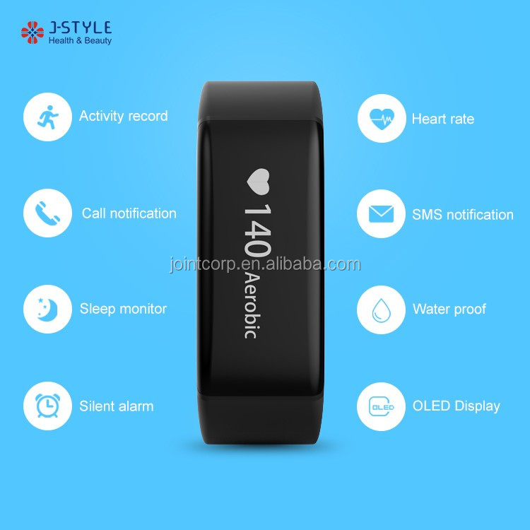 J-style Bluetooth Wrist Pedometer Watch Health Heart Rate Monitor Fitness Activity Tracker