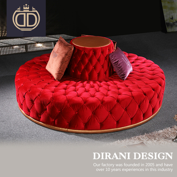 Italian Red Tufted Upholstery Sofa Velvet Chairs Chaise Lounge Chair Y Bright Modern Round