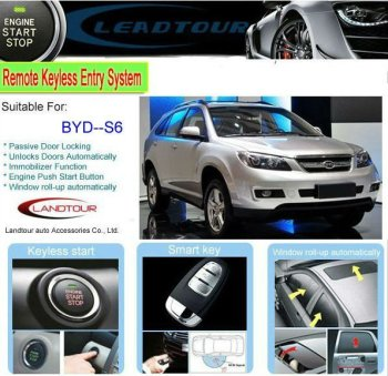 Universal Rfid Car Remote Control Keyless Entry Push On Start With Alarm And Automatic Close