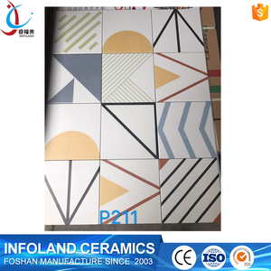 Different pattern glazed finished ceramic floor and wall tile