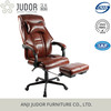 Judor comfortabe luxury pu leather executive office chair with footrest