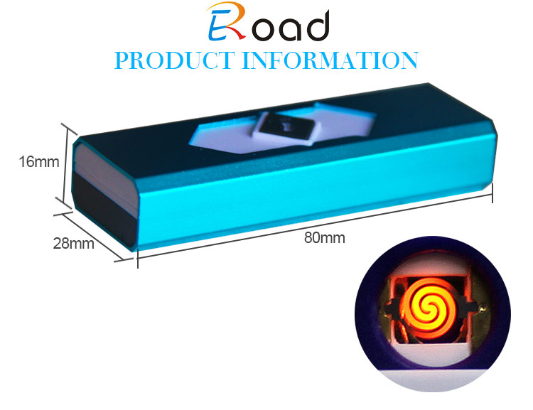 Eroad China Made Metal Cover Electronic Lighter