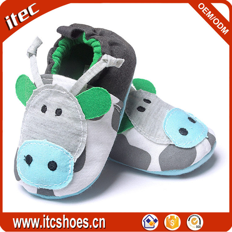 100% cotton infant shoes bull moccasin cow shape cartoon design 2017 cute animal baby shoes