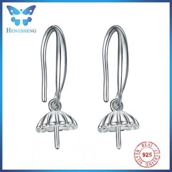 Hengsheng Simple 925 Silver Earring Finding Hook For Jewelry Making