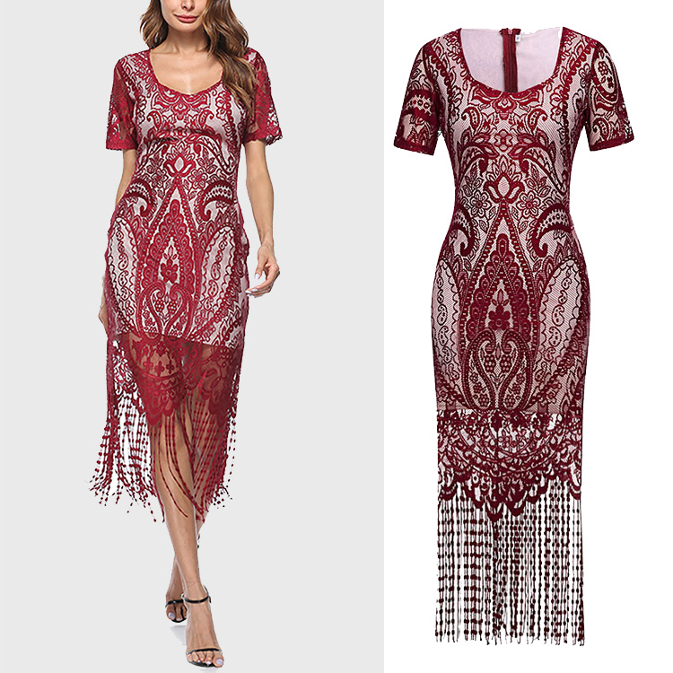 2018 Mode Hot Sale Lace Bodycon Designer One Piece Partai Dress