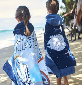 100% Cotton Printing Lovely Patterns Baby Hooded Wraps Beach Pool towel japanese