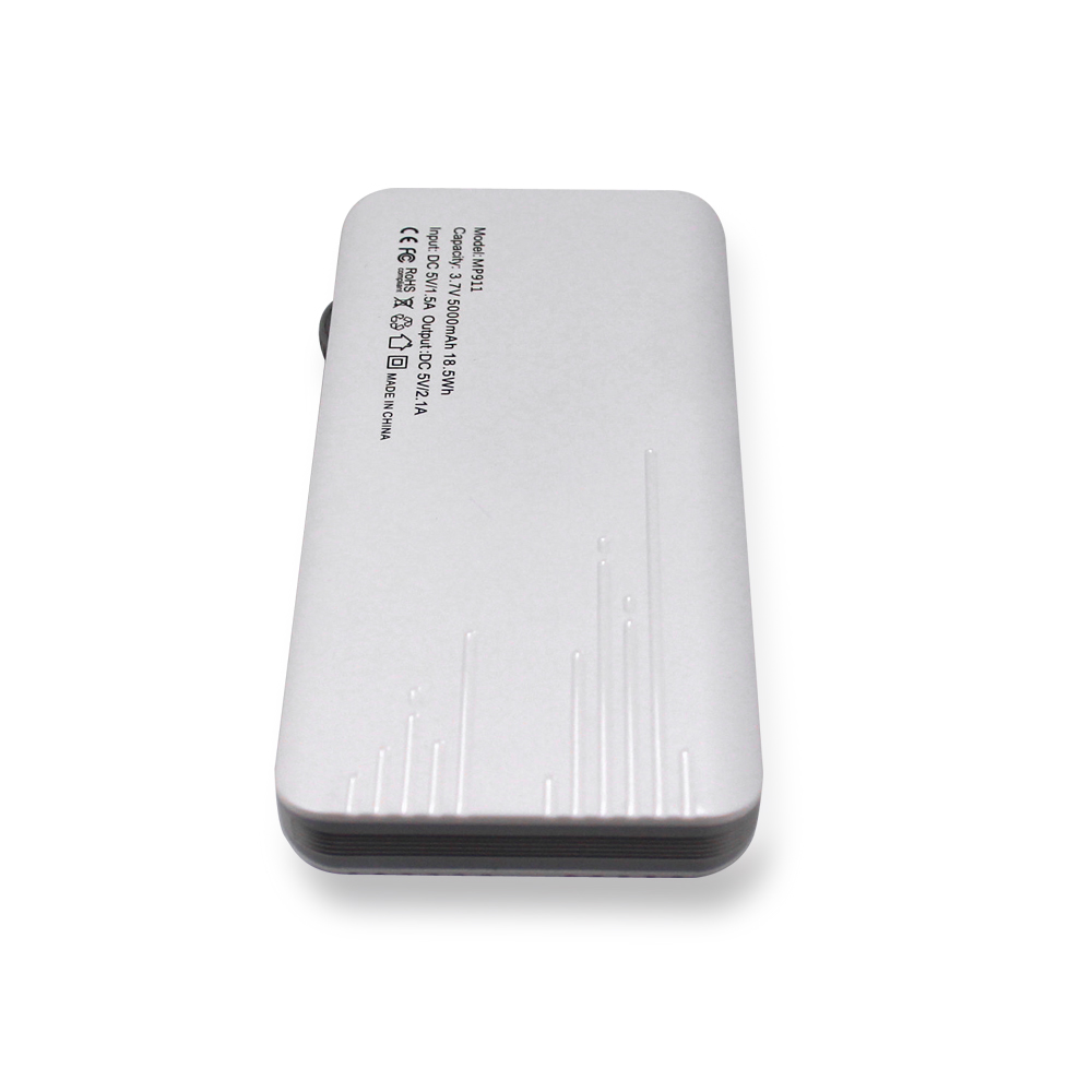 consumer electronics products mobile phone power bank 5000mAh LCD