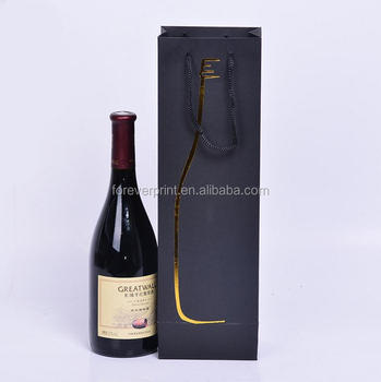 wine bottle bag with gold hot foil stamping wine cooler bag printing