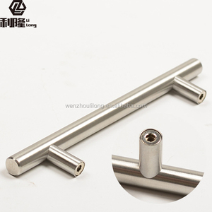 Cupboard T handle Diameter 10 12mm Stainless Steel Kitchen Door Cabinet T Bar Handle Pull Knob Furniture Handle