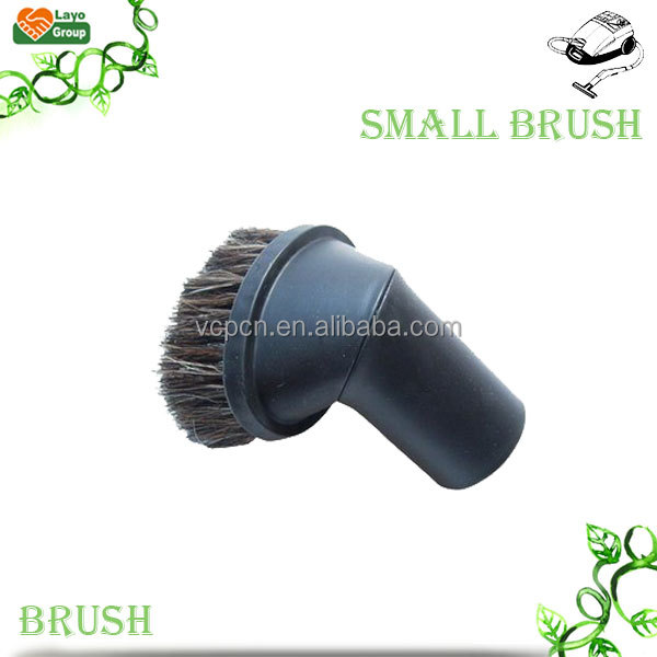 dust brush cleaner vacuum attachment of Vacuum Cleaner Turning Horsehair Small Brush with horse hair 32/35mm adapter (BY-12-H)