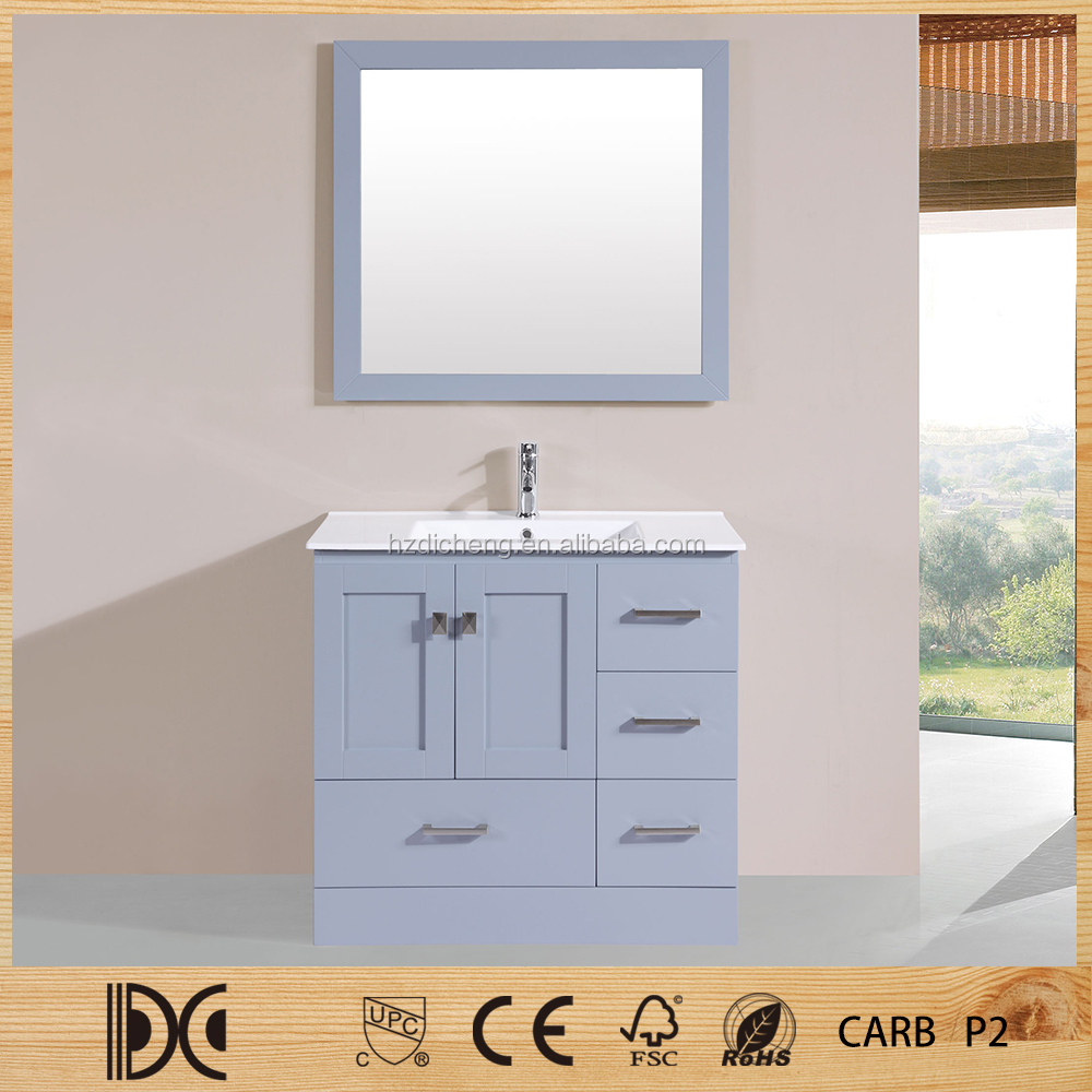 Mirrored Modern Design Style Selection Wood One Piece Bathroom Vanity