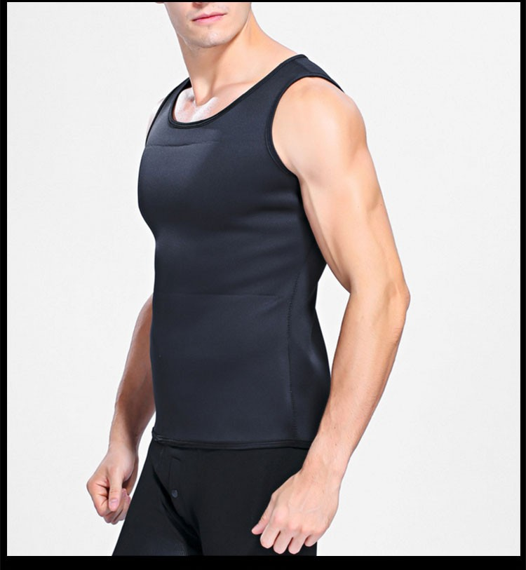 Hot Shapers Mens Sport Sleeveless Shirt Euthermic Neoprene Body Shaper
