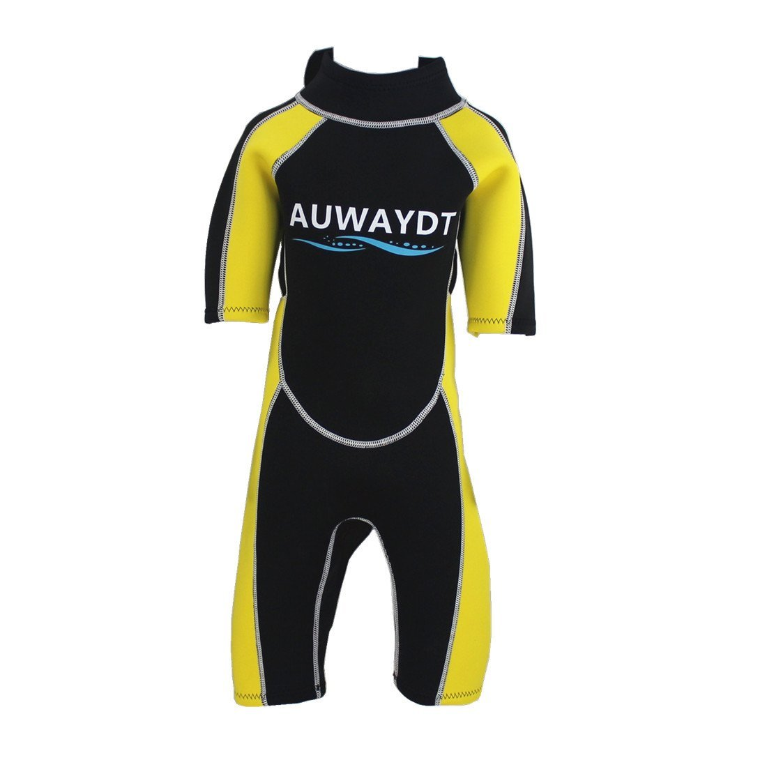 Get Quotations · AUWAYDT Kids Wetsuits 2mm Neoprene Youth Premium Back Zip  Shorty Yellow d6bd50d1e