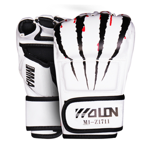 PU Black MMA Gloves /MMA Sparring Gloves/MMA Gloves Black Synthetic Leather