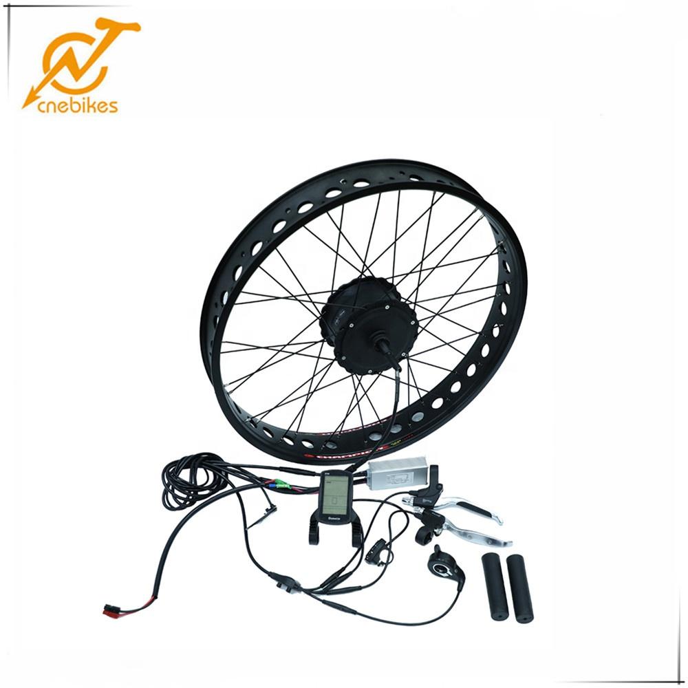 cnebikes H06 48v 500w geared fat tire hub motor kit for electric bike, Black