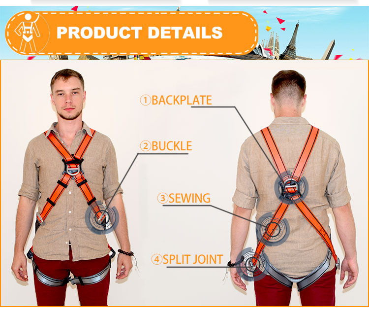 Full Body Safety Protection Harness Conform En361
